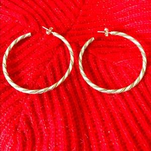 Jewelry - STERLING SILVER BRAIDED HOOPS
